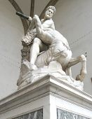 pic of piazza  - Antique and Renaissance art at the landmark Piazza della Signoria in Florence - JPG