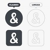 pic of ampersand  - Ampersand rounded sign icon - JPG