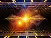image of sine wave  - Light Waves series - JPG