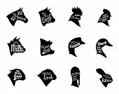 picture of farm animals  - Farm animals icons collection - JPG
