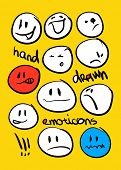 foto of emoticons  - Hand drawn emoticons - JPG