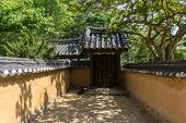 stock photo of korean  - Heo Gyun and Heo Nanseolheon Memorial Park in gangneung south korea taken during summer - JPG
