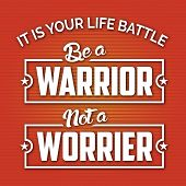 stock photo of battle  - Modern design with Life Motivation Quote for your Life style - JPG