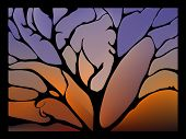 picture of fantastic  - Fabulous surround fantastic artistic collage with twigs and leaves - JPG
