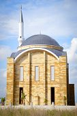 stock photo of constantinople  - Minaret of the mosque and the sky - JPG