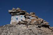 pic of sherpa  - Damaged stupa in Syangboche - JPG