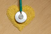 picture of millet  - Dieting healthcare concept - JPG