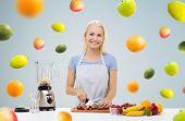image of fruit shake  - healthy eating - JPG