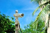 picture of cctv  - An Security cctv in public place city  - JPG