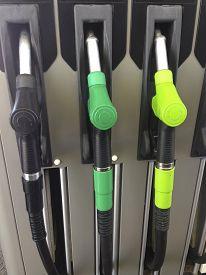 image of petrol  - Detail of hoses of petrol pump at a gas station Spain - JPG