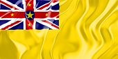 Flag of Niue, national country symbol illustration