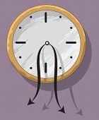Sad Hopeless Clock With Weak Hanging Pointers