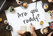 Are You Ready Preparation Startup Beginning Alertness Concept poster