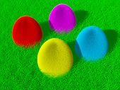 Colorful Fluffy Easter Eggs poster