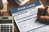 FHA Loan Federal Housing Administration Lending Concept poster