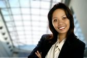 Calm Confident Asian Businesswoman