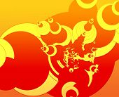 Colorful abstract design with circular pointed motif