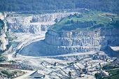 Strip Mining Aerial View