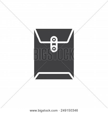 poster of Office Envelope Vector Icon. Filled Flat Sign For Mobile Concept And Web Design. Document Big Paper