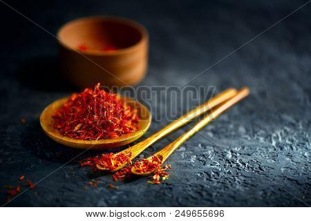 Saffron Spices Saffron on black