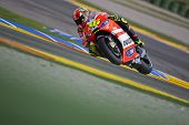 VALENCIA, SPAIN - NOVEMBER 5: Valentino Rossi in motogp Grand Prix of the Comunitat Valenciana, Rica