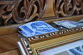 Serbian 100 Dinar Currency Banknote, Serbia Money / Dinar Cash, Portrait Of Scientist Nicola Tesla,  poster
