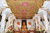 The Interior Of Temple Of The Lord Buddha Tooth Relic.  Kandy, Sri Lanka. The Temple Is The Sacred P