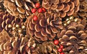 Pinecones And Berries Background