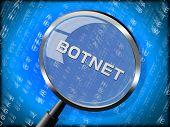 Botnet Illegal Scam Network Fraud 3D Rendering poster