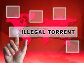 Illegal Torrent Unlawful Data Download 3D Illustration poster