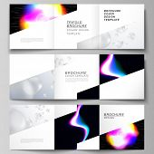 Vector Layout Of Two Square Format Covers Design Templates For Trifold Square Brochure, Flyer, Magaz poster