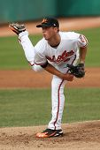 MESA, AZ - NOVEMBER 4: Mesa Solar Sox pitcher Cole McCurry pitches in a game against the Salt River