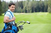 image of golf  - The man on the golf course - JPG