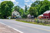 Rural Road To A Farm In Usa. Farm poster