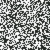 Digital Abstract Black And White Pixel Noise Background, Qr Code Abstract Background, Vector Seamles poster
