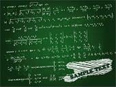 Math formulas on the green slate background