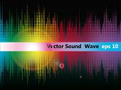 Vector equalizer Abstract Sound Wave. eps 10.
