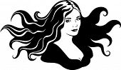 Lady with beautiful hair.