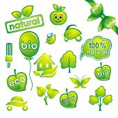 Set of environmental icons and green design-elements.