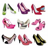 foto of stiletto  - Woman fashion heels shoes  - JPG