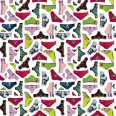 Cute fashion underwear pattern in vector