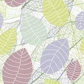 Soft color natural leaf background pattern in vector