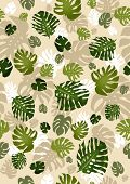 philodendron leaves seamless