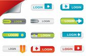 Vector login buttons, website elements
