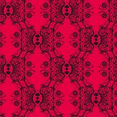 Seamless pattern - black lace