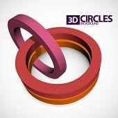 abstract 3D red circles