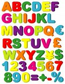 pic of grammar  - Vector Magnets of Alphabet - JPG