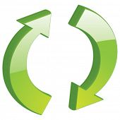 Vector Refresh, Reload, Recycle - 3D Glossy Icon