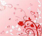 cute pink Vektor-Hintergrund