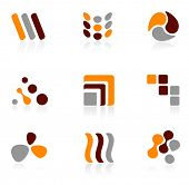 Set of different logo icons